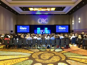 Picture of stage at Insights Association Corporate Researchers Conference, Orlando, October 2018